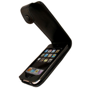 iGadgitz Black Genuine leather case cover for iPod Touch 2nd &amp; 3rd Gen Preview